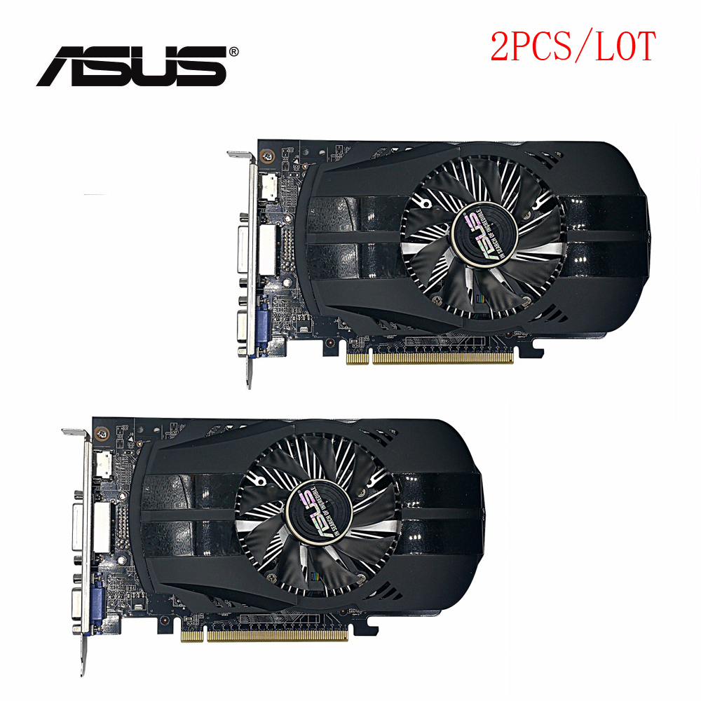 Used,2pcs/lot original ASUS GTX 750TI 2GB 128bit GDDR5 Desktop PC Graphics Card,100% tested good! used asus r7 260x 2gb 128bit ddr5 gaming desktop pc graphics card 100% tested good