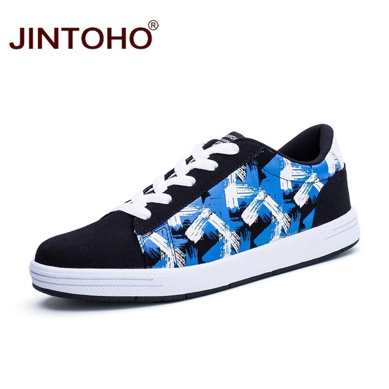 Prix pour Jintoho pas cher hommes planche à roulettes chaussures respirant pas cher hommes chaussures de marque en plein air hommes chaussures de marche sport hommes sneakers