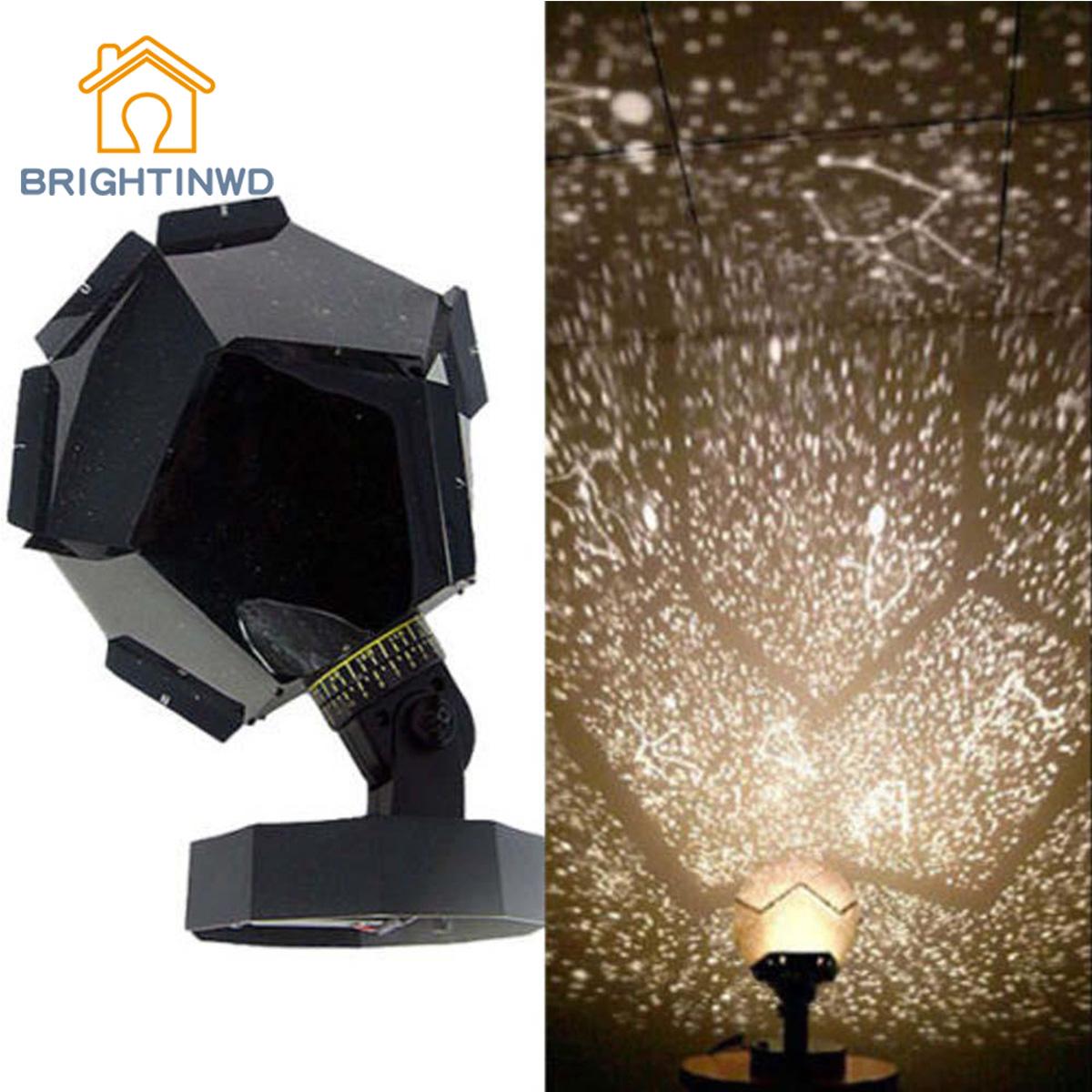 BRIGHTINWD Romantic Planetarium Star Stage Light Celestial Projector Cosmos Night Light Sky Lamp