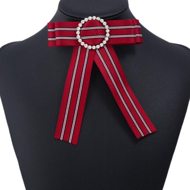 Genial Hemd Krawatte Für Frauen Hochzeit Luxus Polyester Gravata Britischen Pajaritas Gestreiften Fliege Bankett Party Bowknot Pin Bowtie Gute WäRmeerhaltung