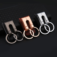 High Quality Llaveros 3 Color Leather Metal Keychain Men S Double Button Car Keychain Key Holder