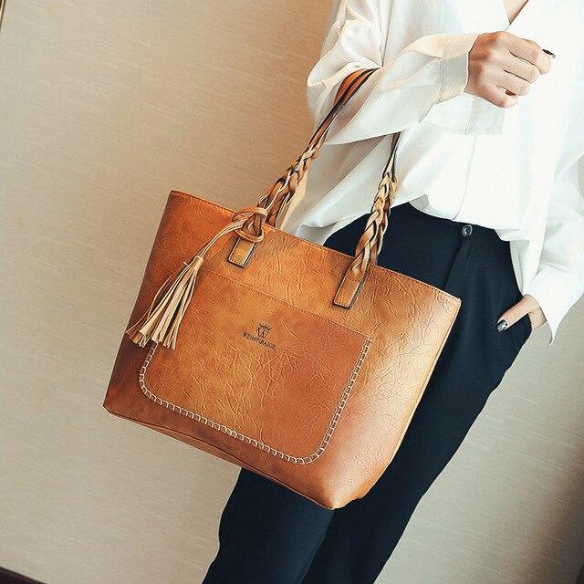 1d84b411 KMFFLY Women Messenger Bags Large Capacity Women Bags Shoulder Tote Bags  bolsos With Tassel Famous Designers