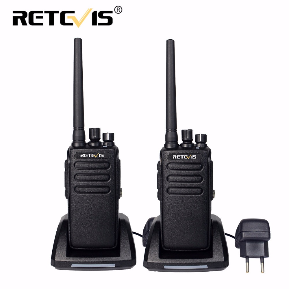 2 pcs DMR Retevis RT81 10 W Digital Walkie Talkie IP67 Tahan Air UHF VOX Jarak jauh 2 Way Radio Amador Ham Radio Hf Transceiver