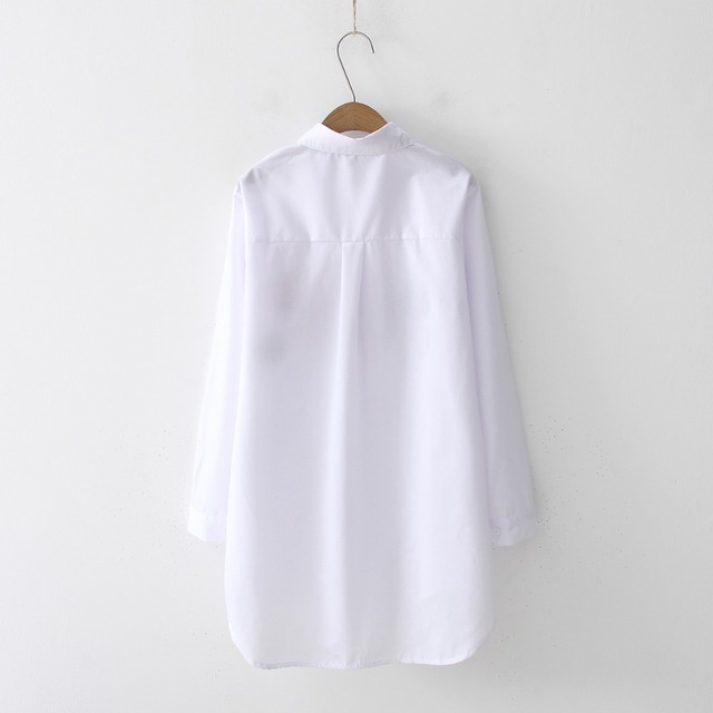 Casual Wear Collar Long Sleeve Cotton Blouse Embroidery HOT Sale 4