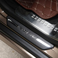 Fileira de trás da porta pedal bem-vindo limiar pratos de chinelo guarda tira stikcer protetora capa para volvo XC60 Acessórios do Exterior