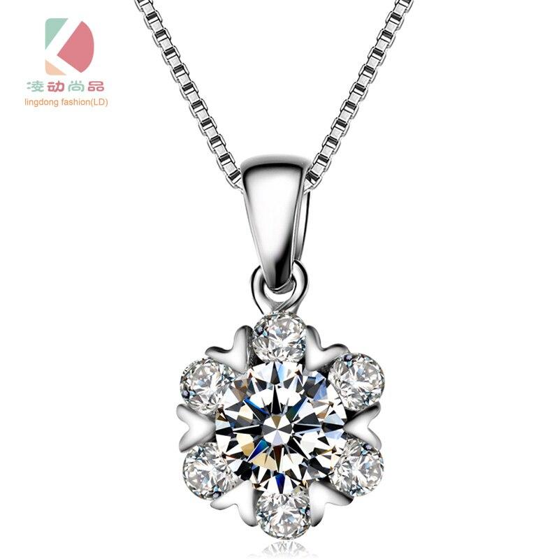 přívěsek sněžný tanec série precizní mozaika nádherné sexy náhrdelník lingdong módní značka s925 mincovní stříbro