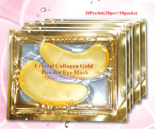 [20kpl] Natural Crystal Kollageeni Gold Powder Eye Mask Anti-Ageing eliminoi Dark Circles Fine Lines Kasvojen hoito Ihonhoito N035