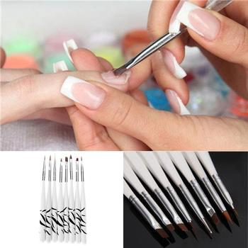8Pcs/set Women Girls UV Gel Nail Art Brush Design Dotting Painting Drawing Liner Polish Pen Tools Tips Manicure DIY Kit