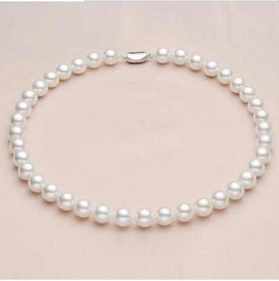 Sterling silver real Natural deep-sea pearl necklace