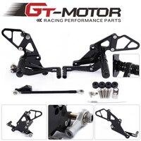 GT Motor Full CNC Aluminum Motorcycle Rearsets Rear Set For YAMAHA MT07 MT 07