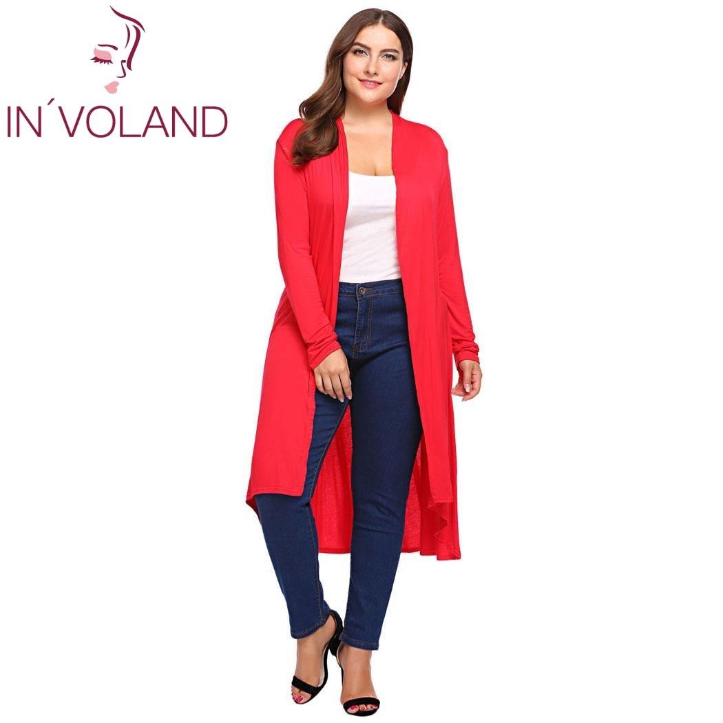 IN'VOLAND Big Size Women Cardigan Sweater Autumn Long ...