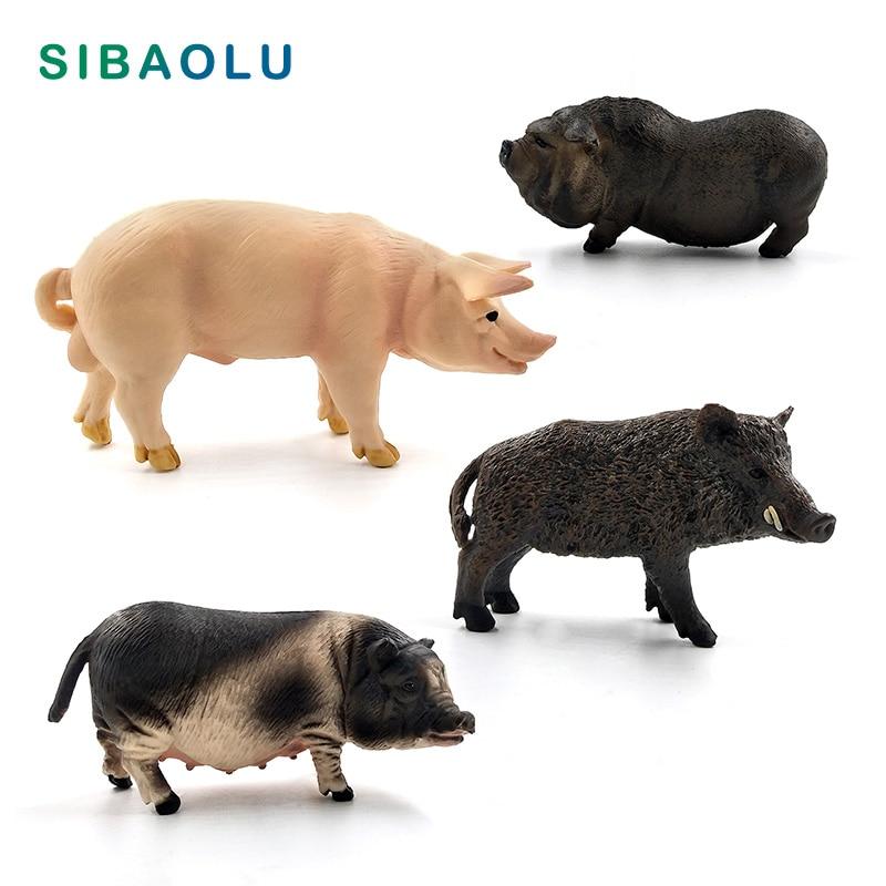 Simulation Animal model Wild Boar Pig figurine home decor miniature fairy garden decoration accessories modern Plastic Craft toy