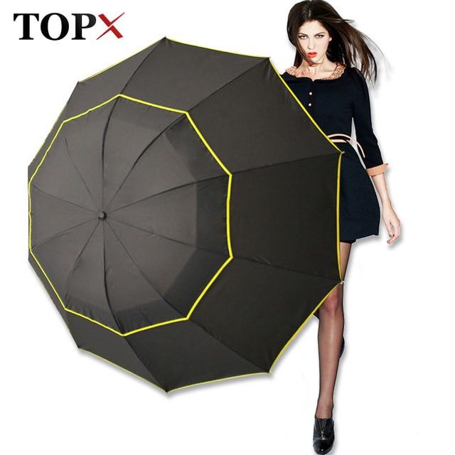 130cm Big Top Quality Umbrella Men Rain Woman Windproof Large Paraguas Male Women Sun 3 Floding Big Umbrella Outdoor Parapluie 1