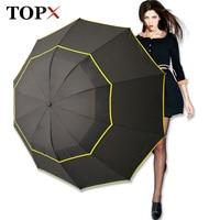 130cm Big Top Quality Umbrella Men Rain Woman Windproof Large Paraguas Male Women Sun 3 Floding