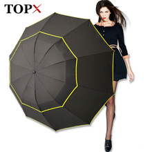 130cm Big Top Quality Umbrella Men Rain Woman Windproof Large Paraguas Male Women Sun 3 Floding Big Umbrella Outdoor Parapluie