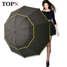 130cm גדול למעלה איכות מטריית גברים גשם אישה Windproof גדול Paraguas זכר נשים שמש 3 Floding גדול מטרייה חיצוני parapluie