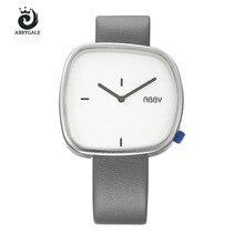Fashion Classic Women's Watches ABBYGALE Unique Square Dial Quartz Wristwatches Hardlex Leather Strap Exquisite  Women's Gifts