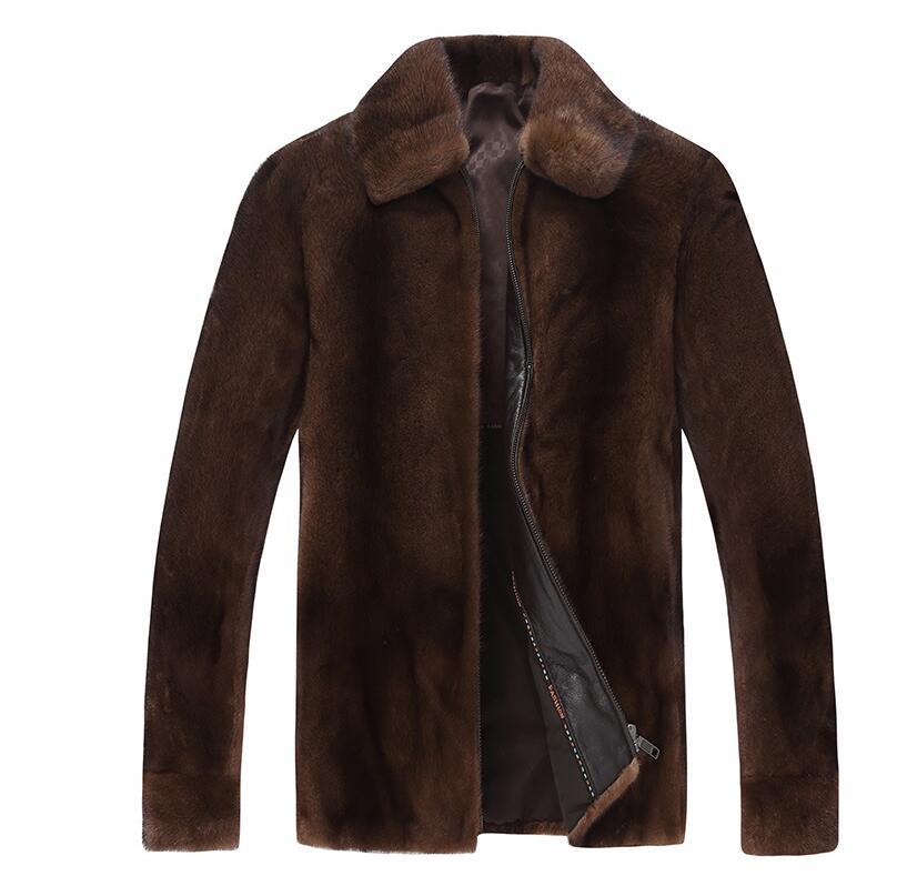 Здесь продается  European autumn faux mink leather jacket mens winter thicken warm fur leather coat men loose jackets jaqueta de couro lapel  Одежда и аксессуары