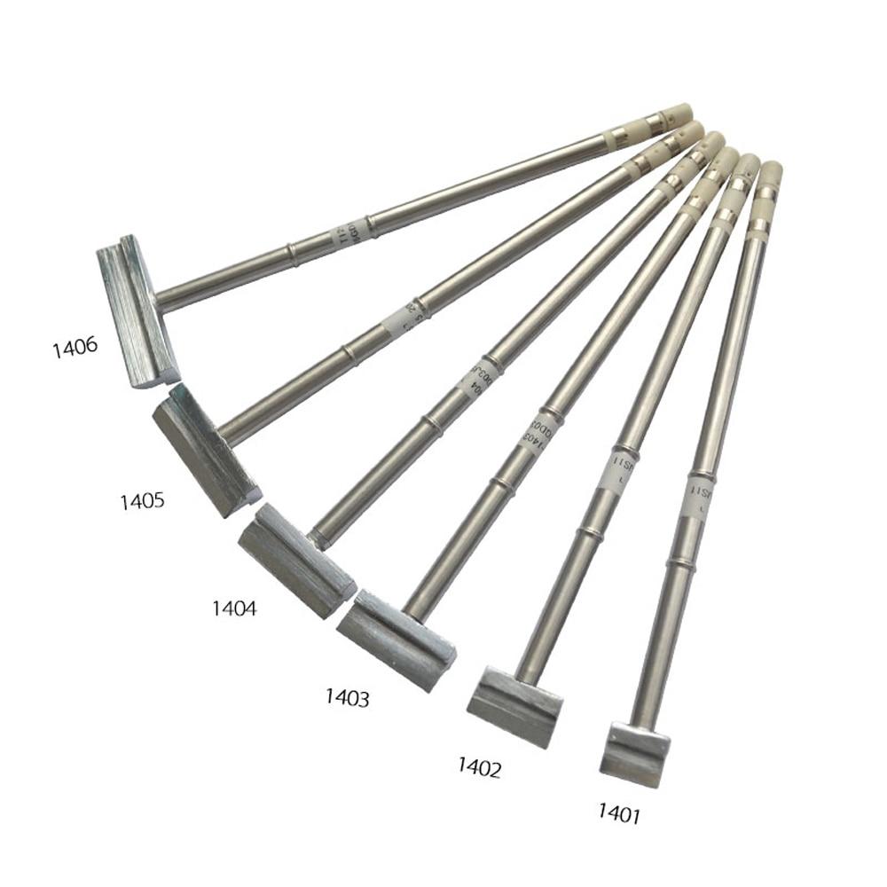 Soldering Iron Tip Soldering Station Spade Scraper Type T12 Series Soldering Iron Tips T12-1401-1406 For HAKKO FX951 FX-952
