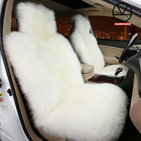 KAWOSEN 100 Australian Pure Natural Wool Seat Cover Sheepskin Winter Car Cushion 5 Seats Whole Vehicle