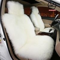 KAWOSEN 100 Australian Pure Natural Wool Seat Cover Sheepskin Winter Car Cushion 5 Seats Whole Vehicle