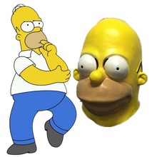 Simpsons Costume Mask Anime The Halloween Party Cosplay Adult Latex Prop