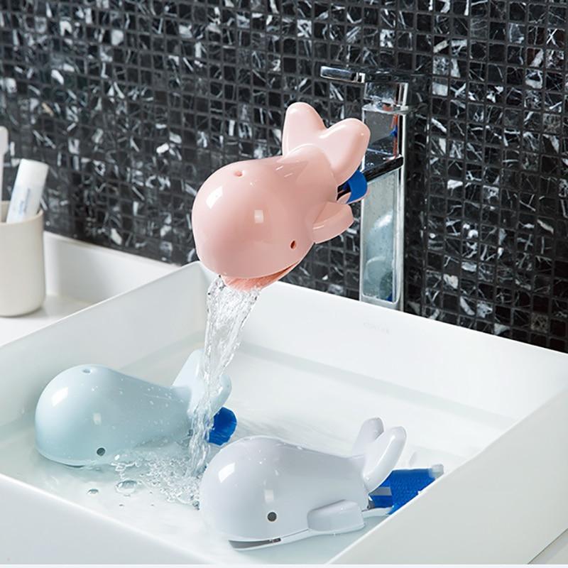 Детский милый Дельфин щетка для ванной кран удлинители для детей мытье рук удобный защитный чехол для детей Инструменты для мытья