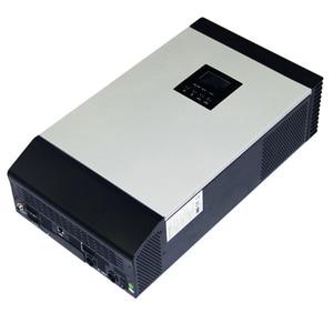 Image 5 - Onduleur solaire hybride à onde sinusoïdale Pure 3KVA 24V 220V 110V intégré PWM 50A contrôleur de Charge solaire et chargeur ca pour un usage domestique