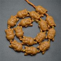 1 Strand perles résine Guanyin bouddha tête 15 * 22 MM rose café couleur argent pour Bracelet collier bijoux bricolage livraison gratuite