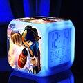 Sonic the hedgehog dos desenhos animados figura de ação do jogo ledclock diodo emissor de luz muda de cor crianças brinquedos clássicos brinquedos super sonic supersônico