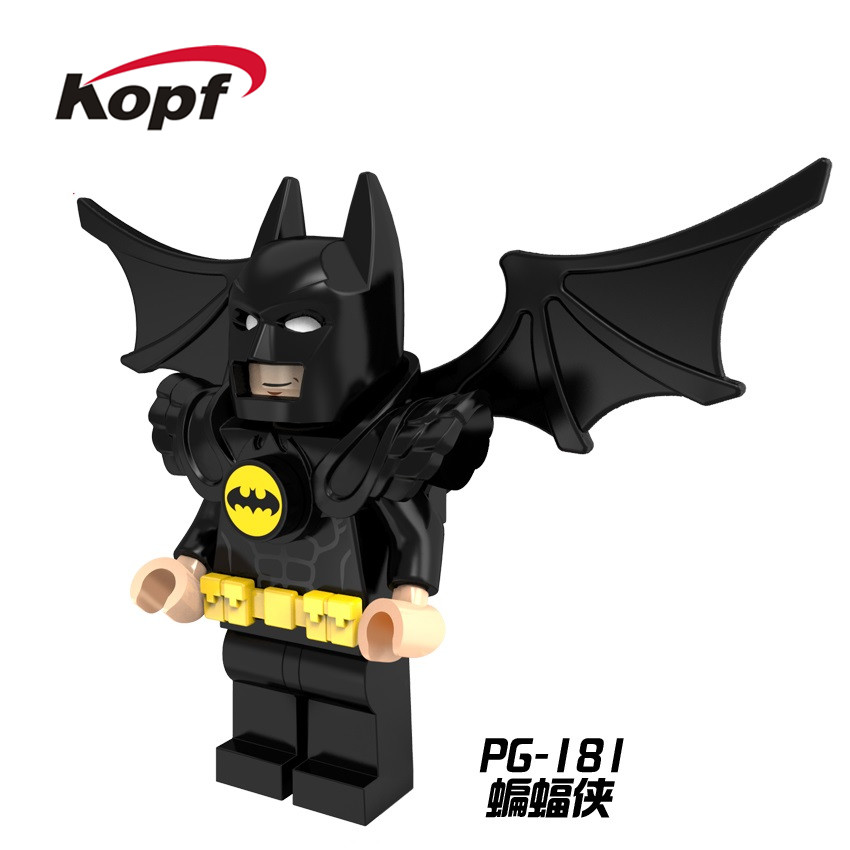 Single Sale Super Heroes Batman with Black Wings Batwing Movie Catwoman Bricks Building Blocks Education Toys for children PG181 image