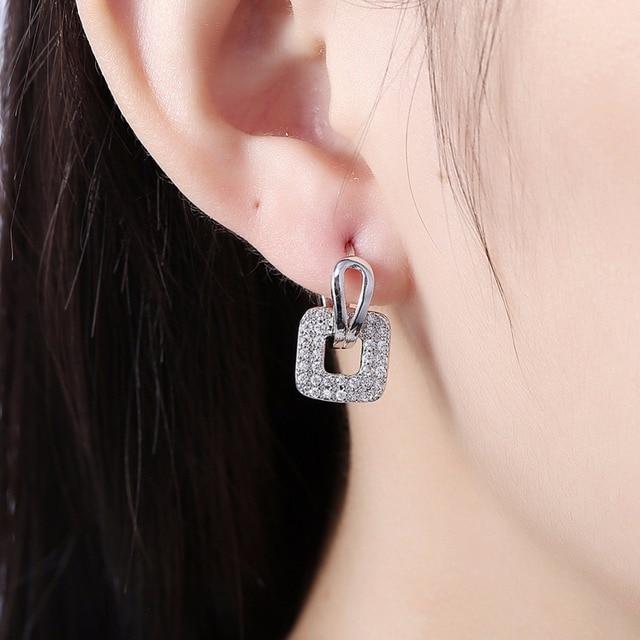 1 пара женских сережек маленькие круглые кубические серьги кольца фотография