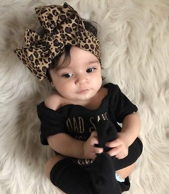 Baby Bodysuit and Leopard Headband