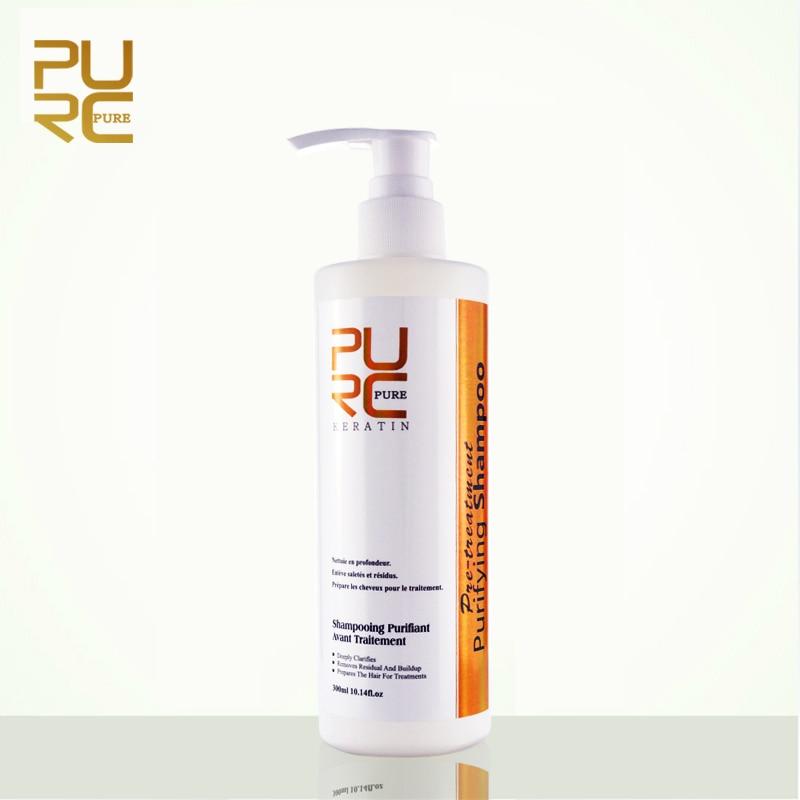 Очищающий шампунь PURC для кератиновой обработки волос, шампунь для глубокой очистки, 300 мл, горячая Распродажа, салонные Продукты для волос, ч...