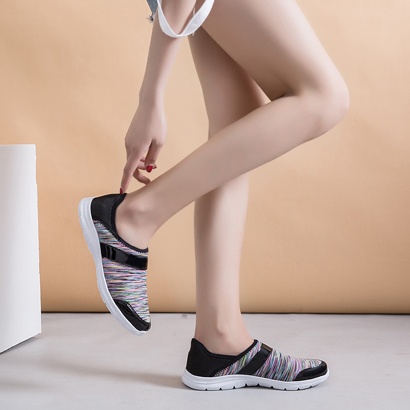 2019 new womens casual sports shoes fashion running breathable wild