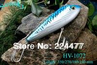 18 cm Tipo Sinking Grandes Señuelos de Pesca de Plástico Duro Cebos Vibración Cebos Mar Profundo Cebo Con El Gancho de China