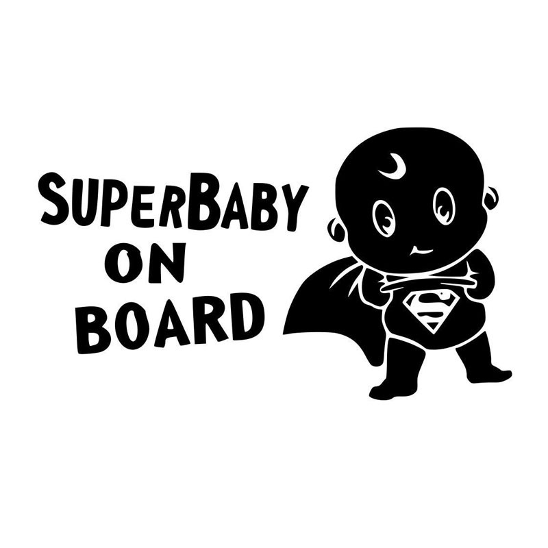 Coche cubre 16*9.3 CM SUPER Baby On Board Vinyl Sticker Decal Jdm Motocicleta De