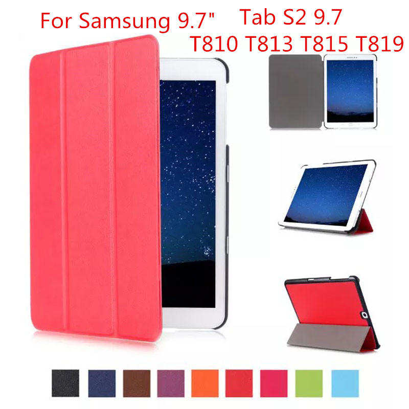 Tri-fold Stand Smart Leather Case for Samsung Galaxy Tab S2 9.7 T810 T815 T813 T819 Tablet stand coveTri-fold Stand Smart Leather Case for Samsung Galaxy Tab S2 9.7 T810 T815 T813 T819 Tablet stand cove