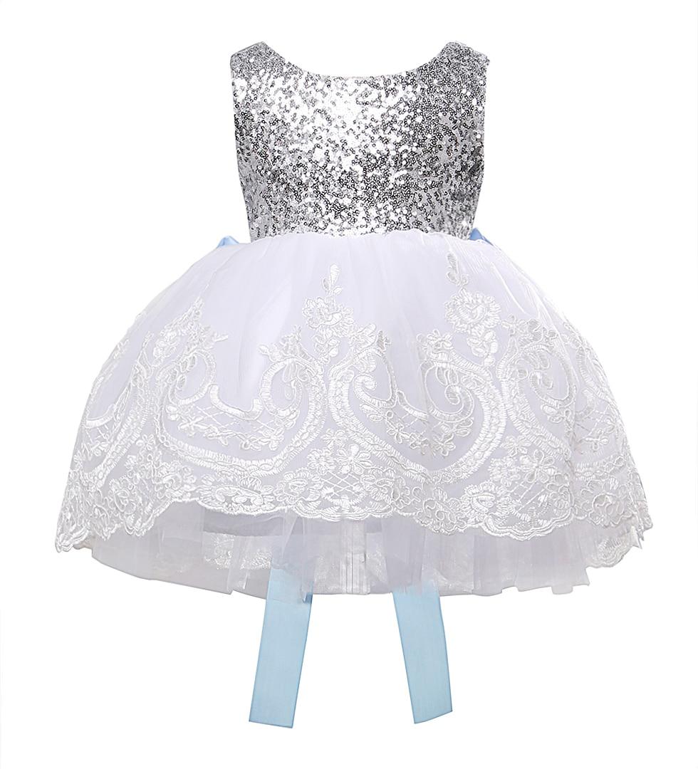 Blumenmädchen Bowknot Lace Besticktes Kleid Baby Kids - Kinderkleidung