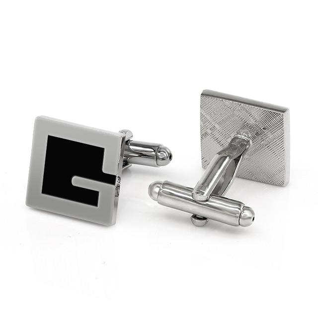 letter g cufflinks cuff links designer brand gemelos fancy gifts