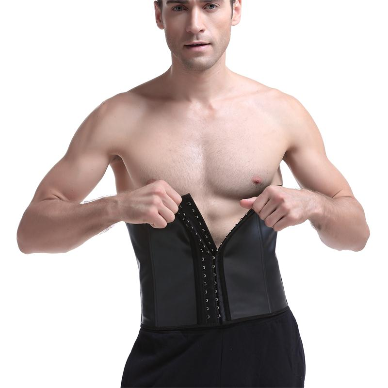 f34f8f0049 Hot Rubber Cincher Men Latex Waist Trainer Tummy Control Steel Bone ...