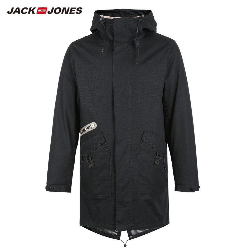 JackJones الرجال 3 في 1 معطف بركة (سترة من الفراء بقبعة للقطب الشمالي) طويلة سترة الرجال خندق معطف كلية الفاخرة الرجالية  218309518-في سترات فرائية مقلنسة من ملابس الرجال على  مجموعة 1
