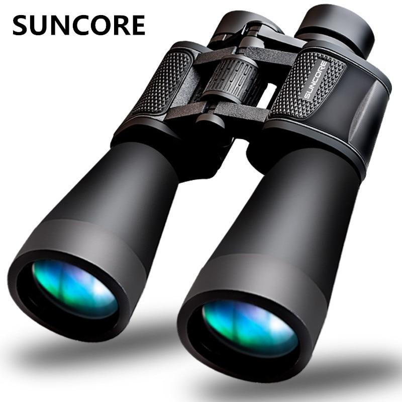 SUNCORE HD high magnification 20X60 binoculars focus optical lens vision FMC multi-layer coating aerial view night view telescop suncore 10x42 powerview super high powered surveillance binoculars