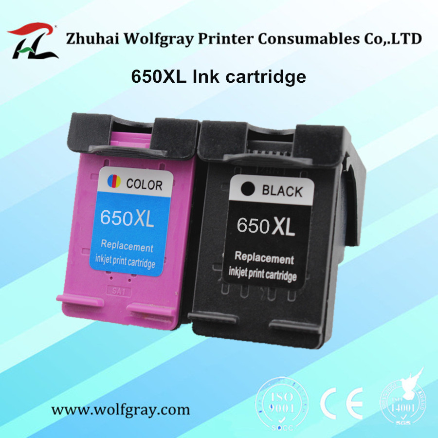 YI LE CAI Compatible Ink Cartridge for HP650 650XL for hp 650 Deskjet Ink Advantage 1015 <font><b>1515</b></font> 2515 2545 2645 3515 3545 4515 4645 image