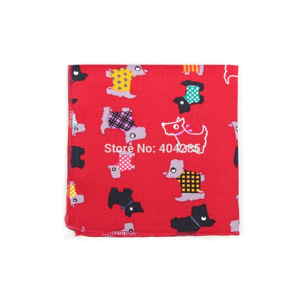 2019 Cotton Catoon Men's Pocket Square Print Handkerchief 22X22CM