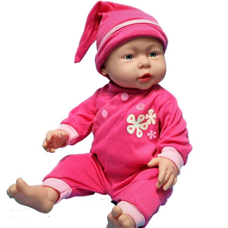 16 inch Baby Kids Reborn Baby Doll Soft Vinyl Silicone Lifelike Newborn Baby Toy Pajama party Dolls for Boys Girls Birthday Gift цена