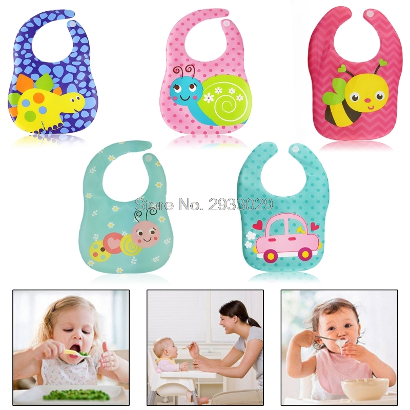 Baby Bib Saliva EVA Bandana Cartoon Animal Newborn Infant Girls Boys Waterproof J26 Drop shipping ...