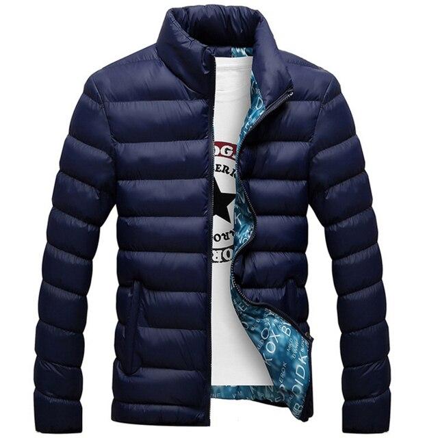 buy online 50b65 202e9 US $24.0 |Uomini giacca invernale 2017 new miscela del cotone maschio  giubbotti invernali da uomo e cappotti jaqueta masculina casaco inverno  camperas ...
