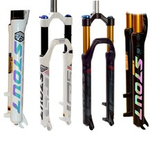 лучшая цена STOUT RC2 Mtb Fork 26 Bicycle Suspension Fork 27.5 Air Damping Front Fork Bike Parts