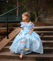 Baby Gir Cinderella Snow Queen Princess Dress Summer Kids Party Dancing Cosplay Clothes Girl Chiffon Dress Kids Clothing